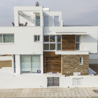 Modern house on corner plot for sale on Dekelia road, walking distance from the beach, titles guaranteed