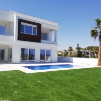 4 bedroom beachfront house for sale on Dekelia road with swimming pool