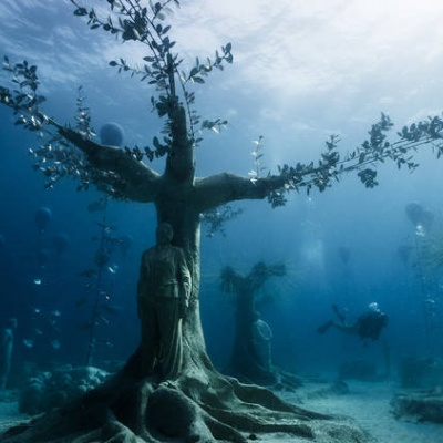 Check out this haunting new underwater sculpture park in Cyprus